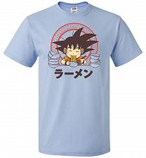 Buy Saiyan Ramen Unisex T-Shirt Pop Culture Graphic Tee (3XL/Light Blue) Humor Funny Nerd