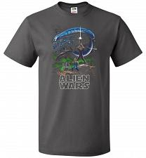 Buy Alien Wars Unisex T-Shirt Pop Culture Graphic Tee (M/Charcoal Grey) Humor Funny Nerdy