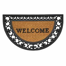 Buy *17420U - Regal Half Moon Framed Rubber Coir Entry Mat