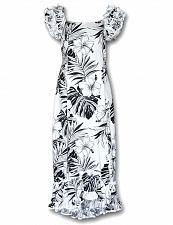 Buy White Hawaiian Muumuu Palekaiko Dress #334-3589 size LARGE