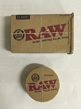 Buy TWO RAW Rolling Paper Storage Tins - Pop Top Round + Slide Top Cigarette Case