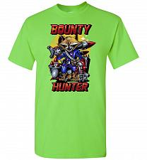Buy Bounty Hunter Rocket Raccoon Unisex T-Shirt Pop Culture Graphic Tee (XL/Lime) Humor F