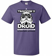 Buy A Trooper's GuideTo Droid Identification Unisex T-Shirt Pop Culture Graphic Tee (2XL/