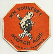 Buy WM YOUNGER'S SCOTCH ALES SCOTTISH BREWERS LTD BEER COASTER MAT BAR
