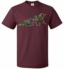 Buy Pickle Rick Evolution Unisex T-Shirt Pop Culture Graphic Tee (2XL/Maroon) Humor Funny