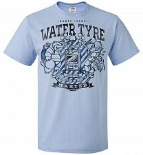 Buy Water Type Champ Pokemon Unisex T-Shirt Pop Culture Graphic Tee (M/Light Blue) Humor