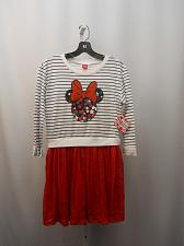 Buy DISNEY Girls Dress Size XL 14 16 Minnie Lace Skirt Scoop Neck Long Sleeves