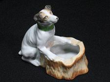 Buy Porcelain Dog Figural Ashtray Snuffer Japan Maruyama Toki Yamashiro Ryuh Vintage