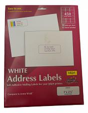 Buy Printer Creations INKJET SELF-ADHESIVE White Address Labels 450 Total Count
