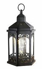 Buy :10802U - Light Bulb LED Shimmer Black Plastic Lantern