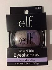 Buy e.l.f. Baked Eyeshadow Trio New in Box ~ Full Size ~ Lavender Love .14 oz