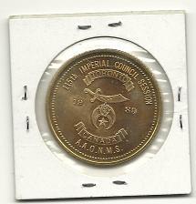 Buy Mason Coin 115th Imperial Council Session RARE Toronto Canada Freemason 1989