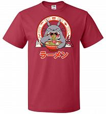 Buy The Neighbor's Ramen Unisex T-Shirt Pop Culture Graphic Tee (M/True Red) Humor Funny