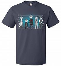 Buy Rick and Morty Unusual Suspects Unisex T-Shirt Pop Culture Graphic Tee (2XL/J Navy) H