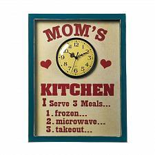 Buy *18145U - Mom's Kitchen Menu Quartz Clock Wall Sign