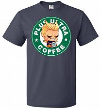 Buy Plus Ultra Coffee Unisex T-Shirt Pop Culture Graphic Tee (M/J Navy) Humor Funny Nerdy