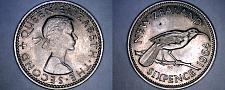 Buy 1964 New Zealand 6 Pence World Coin - Elizabeth II
