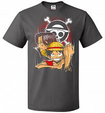 Buy Pirate King Unisex T-Shirt Pop Culture Graphic Tee (L/Charcoal Grey) Humor Funny Nerd