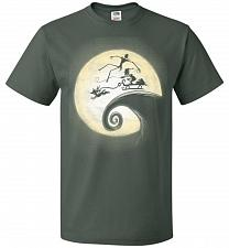 Buy Nightmare Before Grinchmas Unisex T-Shirt Pop Culture Graphic Tee (XL/Forest Green) H