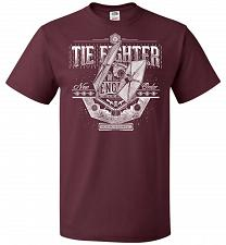 Buy New Order Tie Fighter Unisex T-Shirt Pop Culture Graphic Tee (M/Maroon) Humor Funny N