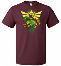 Buy Hero of Time Unisex T-Shirt Pop Culture Graphic Tee (L/Maroon) Humor Funny Nerdy Geek