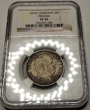 Buy 1876-C German States Prussia 2 Mark World Silver Coin NGC VF35 - Wilhelm I