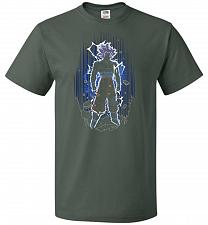 Buy Shadow Of The Ultra Instinct Unisex T-Shirt Pop Culture Graphic Tee (L/Forest Green)