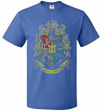 Buy Hogwart's Crest Adult Unisex T-Shirt Pop Culture Graphic Tee (3XL/Royal) Humor Funny