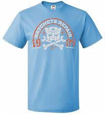 Buy Transformers Ratchet's Repair Adult Unisex T-Shirt Pop Culture Graphic Tee (S/Aquatic