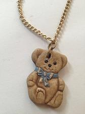 Buy Teddy Bear Ceramic Pendant on chain Necklace