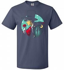 Buy Knight Of The Moonlight Unisex T-Shirt Pop Culture Graphic Tee (2XL/Denim) Humor Funn