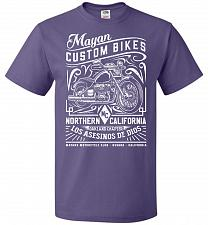 Buy Mayan Custom Bikes Sons Of Anarchy Adult Unisex T-Shirt Pop Culture Graphic Tee (L/Pu
