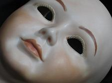 Buy Vintage Bisque Porcelain Doll Head Baby Child 4 inches tall NOS