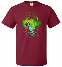 Buy Rick Morty Art Unisex T-Shirt Pop Culture Graphic Tee (M/Cardinal) Humor Funny Nerdy
