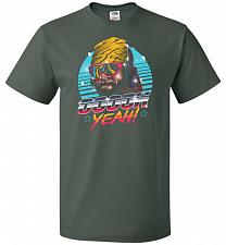 Buy Oh Yeah! Unisex T-Shirt Pop Culture Graphic Tee (XL/Forest Green) Humor Funny Nerdy G