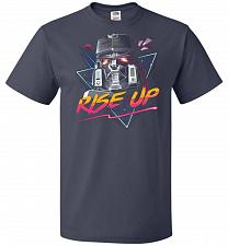 Buy Rise Up Unisex T-Shirt Pop Culture Graphic Tee (4XL/J Navy) Humor Funny Nerdy Geeky S