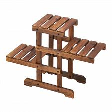 Buy *18436U - Zigzag Pallet Style 3 Step Fir Wood Plant Stand