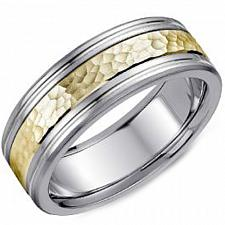 Buy coi Jewelry Titanium Hammered Wedding Band Ring-JT3357(Szie US8.5)