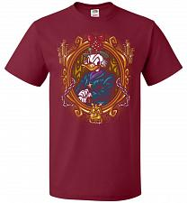 Buy Scrooge McDuck A Miserly Portrait Adult Unisex T-Shirt Pop Culture Graphic Tee (M/Car