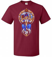 Buy Prince Of All Sayians Unisex T-Shirt Pop Culture Graphic Tee (6XL/Cardinal) Humor Fun
