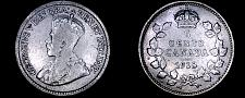 Buy 1918 Canada 5 Cent World Silver Coin - Canada - George V - Lot#9732