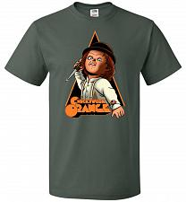 Buy Chuckywork Orange Unisex T-Shirt Pop Culture Graphic Tee (M/Forest Green) Humor Funny