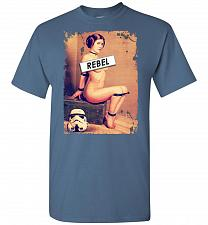 Buy Princess Leia Rebel Unisex T-Shirt Pop Culture Graphic Tee (XL/Indigo Blue) Humor Fun