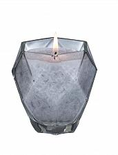 Buy :10639U - Silver Moonstone Scented Prism Jewel Glass Cup Palm Wax Candle