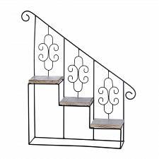 Buy *17537U - Black Metal Stair Steps Wall Shelf
