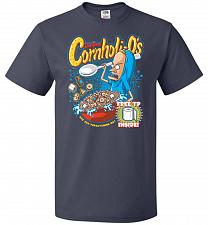 Buy Cornholios Unisex T-Shirt Pop Culture Graphic Tee (2XL/J Navy) Humor Funny Nerdy Geek