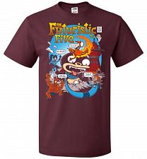 Buy Futuristic Five Unisex T-Shirt Pop Culture Graphic Tee (3XL/Maroon) Humor Funny Nerdy