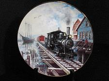 Buy Train Collector Plate Ted Xaras Winter Rails By Sea or Rails Vintage