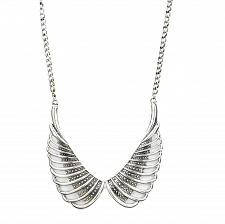 "Buy *15697U - Silver-tone Intricate Design Wings 14 1/2"" Necklace"