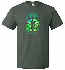 Buy Face Of Rapture Unisex T-Shirt Pop Culture Graphic Tee (L/Forest Green) Humor Funny N